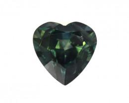 0.82cts Natural Australian Greenish/Blue Sapphire Heart Cut