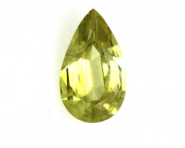 0.99cts Natural Australian Yellow Sapphire Pear Cut