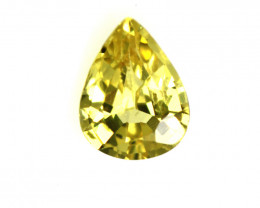 0.36cts Natural Australian Yellow Sapphire Pear Cut