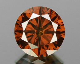 0.54 Cts Sparkling Fancy Deep Brownish Red Color Natural Loose Diamond