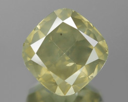 1.05 Cts Untreated Natural Fancy Yellowish Green Loose Diamond