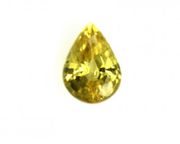 0.19cts Natural Australian Yellow Sapphire Pear Cut