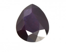 1.25cts Natural Songea Deep Purple Sapphire Pear Cut