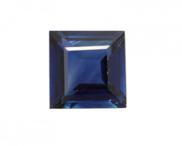 0.60cts Natural Australian Blue Sapphire Square Cut