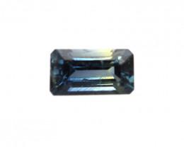 0.32cts Natural Australian Blue Parti Sapphire Emerald Cut