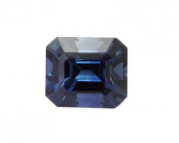 0.57cts Natural Australian Blue Sapphire Emerald Cut