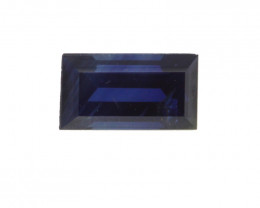 0.60cts Natural Australian Blue Sapphire Baguette Cut