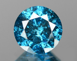 0.64 Cts Sparkling Fancy Vivid Blue Color Natural Loose Diamond