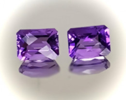 ⭐TOP VIOLET SHINING AMETHYST PAIR - VVS -  8 X 6.00mm