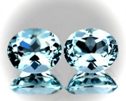 ⭐Aquamarine Pair 6.0 x 5.0mm VVS gems