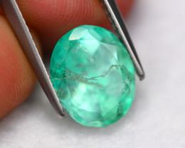 3.93Ct Natural Neon Green Colombian Muzo Emerald ~ A0607