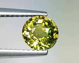"""1.00 ct """" Collective Gem"""" Lovely Round Cut Greenish Yellow Tourma"""