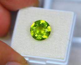 4.09Ct Green Peridot Round Cut Lot Z38