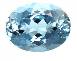28.47cts Natural Swiss Blue Topaz Oval Cut