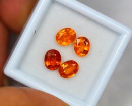 3.61Ct Songea Orange Sapphire Oval Cut Lot Z41