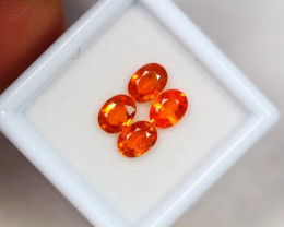 2.81Ct Songea Orange Sapphire Oval Cut Lot Z44