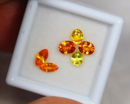 2.75Ct Natural Songea Orange Yellow Sapphire Oval Cut Lot Z46