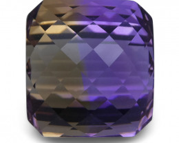 24.51 ct Cushion Checkerboard Ametrine