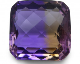 34.6 ct Cushion Checkerboard Ametrine