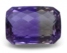 27.31 ct Cushion Checkerboard Ametrine