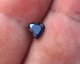 1.11cts Natural Australian Blue Sapphire Heart Shape