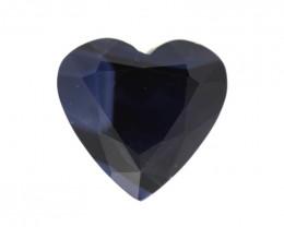 0.87cts Natural Australian Blue Sapphire Heart Shape