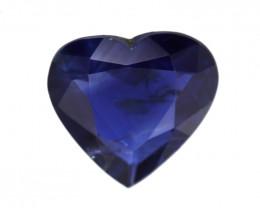 0.77cts Natural Australian Blue Sapphire Heart Shape