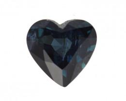 0.88cts Natural Australian Blue Sapphire Heart Shape