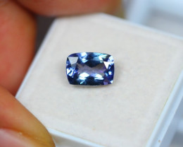 2.12Ct Violet Blue Tanzanite Octagon Cut Lot A402