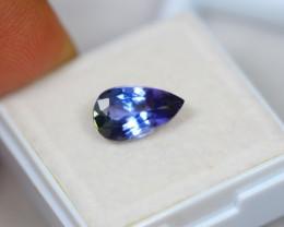 2.35Ct Violet Blue Tanzanite Pear Cut Lot A404