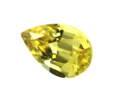 0.53cts Natural Australian Yellow Sapphire Pear Shape