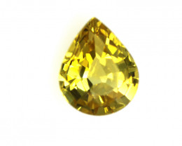 0.46cts Natural Australian Yellow Sapphire Pear Shape