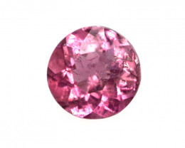 0.10cts Natural Pink Tourmaline Round Cut