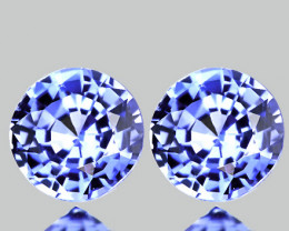 ⭐4.00mm BLUE SAPPHIRE PAIR - BRILLIANT CUT JEWELLERY GRADE GEMS