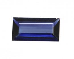 0.40cts Natural Australian Blue Sapphire Baguette Shape