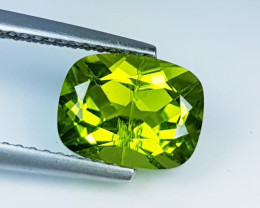 """2.59ct """" AAA Grade """" Excellent Cushion Cut Top Luster  Peridot"""