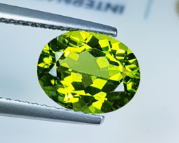 """2.76ct """" Exclusive  Gem """" Awesome Oval Cut Top Luster Peridot"""