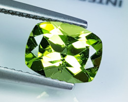 "1.99ct "" Top Quality Gem "" Superb Cushion Cut Top Luster Peridot"