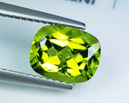 """2.45ct """" Collector's Gem """"Stunning Cushion Cut Top Luster Peridot"""