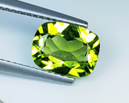 "2.00ct "" Amazing Gem "" Excellent Cushion Cut Top Luster Peridot"