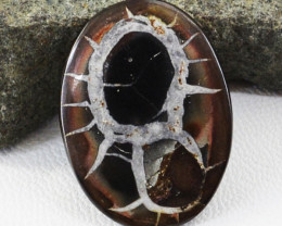 Genuine 21.00 Cts Black Septarian Agate Untreated Cabochon