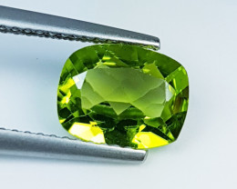 "1.91ct "" Top Quality Gem "" Awesome Cushion Cut Top Luster Peridot"
