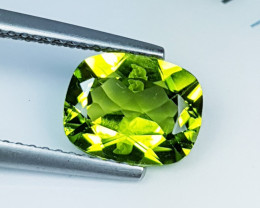 """2.04ct """" Top Quality Gem """" Awesome Cushion Cut Top Luster Peridot"""