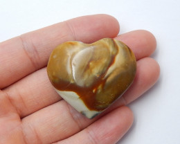 89.5cts Ocean jasper Heart , Healing Gemstone Heart side drill(A792)