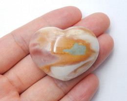 113cts Ocean jasper Heart , Healing Gemstone Heart side drill(A793)