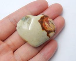 105.5cts Ocean jasper Heart , Healing Gemstone Heart side drill(A794)