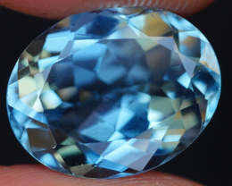 5.45 CRT LOVELY SWISS BLUE TOPAZ VERY CLEAR-