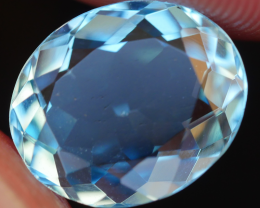 4.30 CRT LOVELY SWISS BLUE TOPAZ VERY CLEAR-