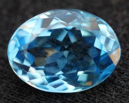 3.05 CRT LOVELY SWISS BLUE TOPAZ VERY CLEAR-