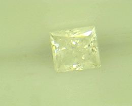0.11ct Fancy White  Diamond , 100% Natural Untreated
